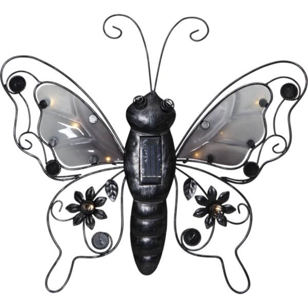 """Star Trading 481-27 LED-Solar-Wanddeko """"Butterfly"""", Schmetterling"""