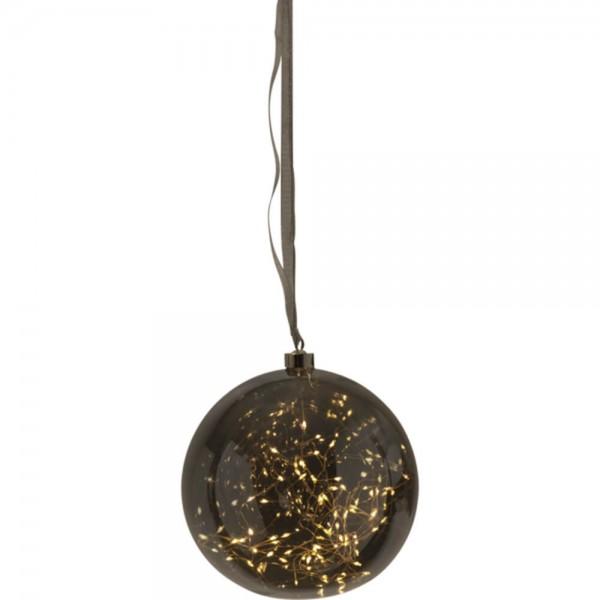 "Star Trading 457-86 ""Glow"" Glaskugel mit 80 warmwhite LED, ca. 20 cm Ø"