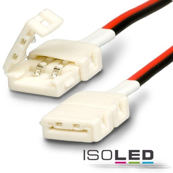 Clip-Verbinder mit Kabel für 2-pol. IP20 Flexstripes mit Breite 8mm, Pitch-Abstand >12mm