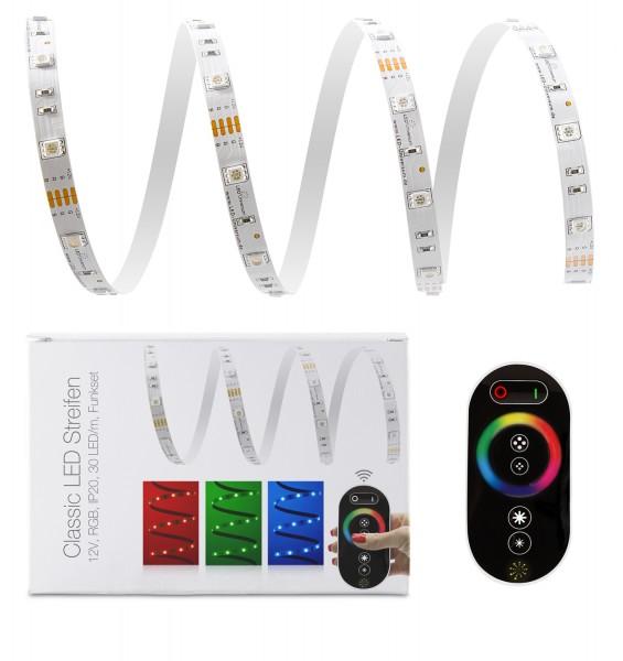12V LED Streifen Set | RGB | Trafo und Fernbedienung | 1 bis 15m wählbar | IP20