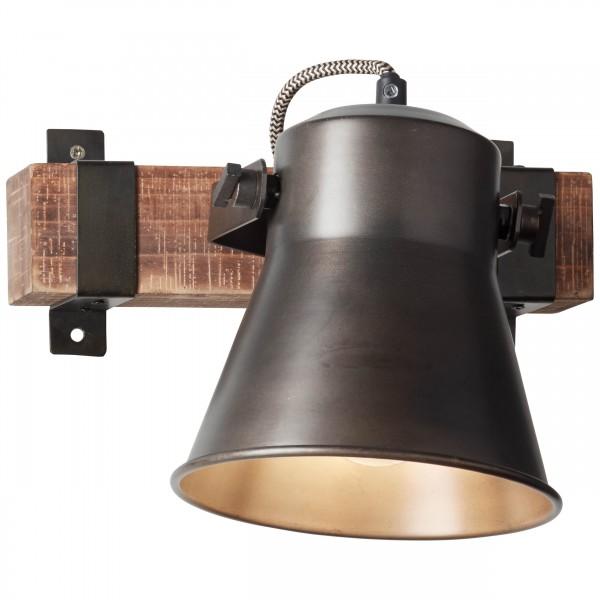 82110/46 Plow Wandspot Metall/Holz schwarz stahl