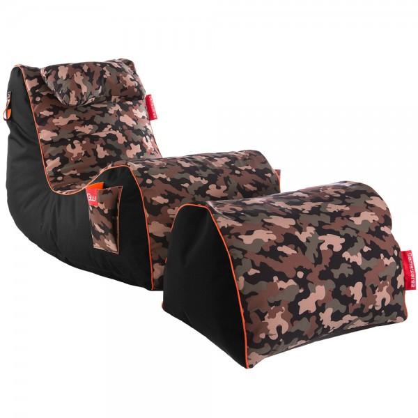 Gamewarez Relax Series RX Camouflage Sitzsack Set