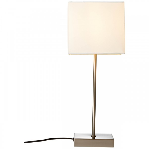 Brilliant 94873/05 Aglae Tischleuchte mit Touchschalter Metall/Textil weiß