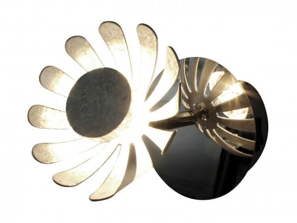 9022 SI LED-Wandleuchte BLOOM silber