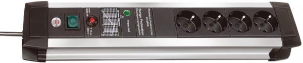Brennenstuhl Premium-Protect-Line 60.000A Überspannungsschutz-Steckdosenleiste 4-fach 3m H05VV-F 3G1