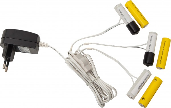 Star Trading 062-04 Strombetrieb für Batterieartikel, ersetzt 3x 2AA