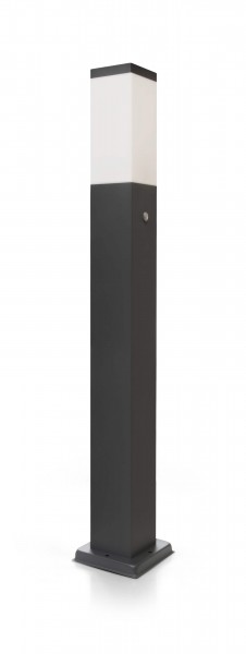 B-Ware LED Wegeleuchte mit 2 Steckdosen + Dämmerungssensor anthrazit