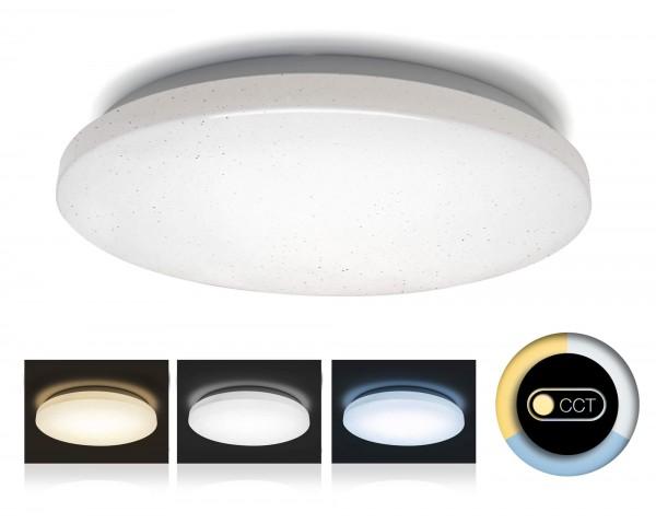 V-TAC LED Deckenleuchte mit Glitzereffekt und Color Switch 25,5cm 12W
