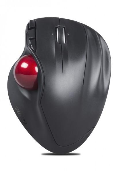 Speedlink Kabelloser Trackball APTICO, wireless Mouse, ergonomisch, 5 Tasten, schwarz, SL-630001-BK