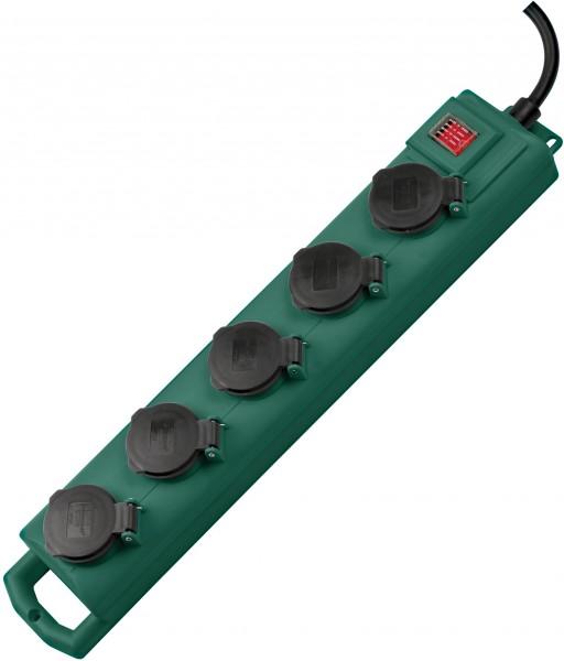 Brennenstuhl Super-Solid SL 554 Garten-Steckdosenverteiler / Outdoor Steckdosenleiste für den Einsat