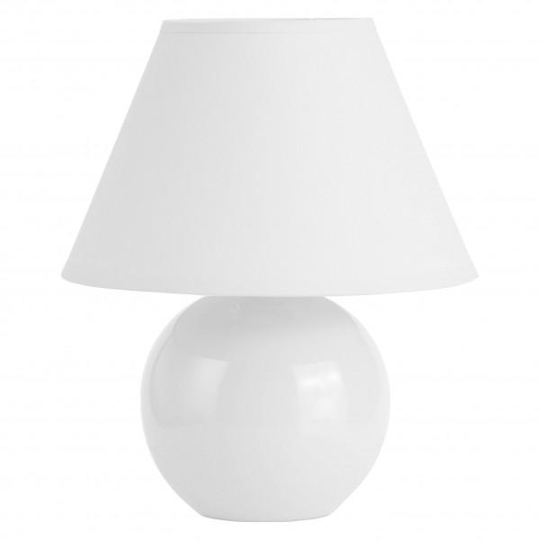 Brilliant 61047/05 Primo Tischleuchte Keramik/Textil weiß