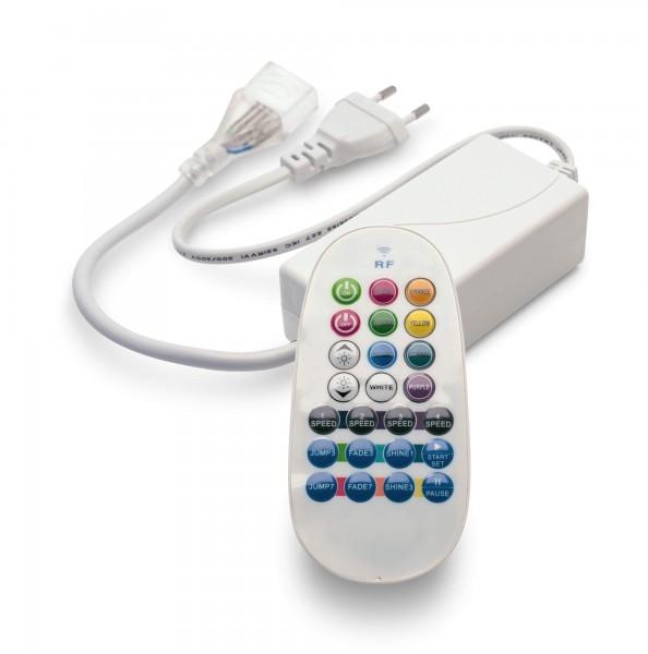 Funkfernbedienung Controller Dimmer Netzkabel 230V für RGB NeonFlex LED Streifen