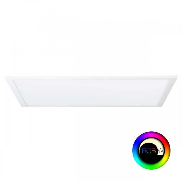 Brilliant G90319/05 Abie Deckenaufbau-Paneel 60x60cm RGB Metall/Kunststoff weiß