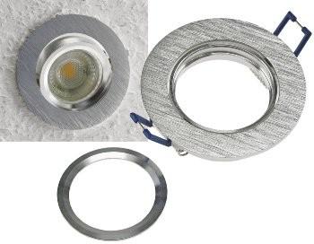 """Einbaustrahler """"CTE-84R"""" Rund 84mm Einbau 68mm, schwenkbar, Clip Ring"""