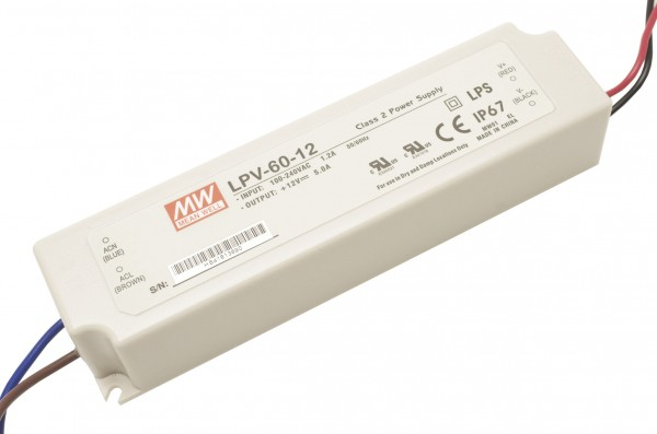 Mean Well LPV-60-5 Installationsnetzteil 5V DC