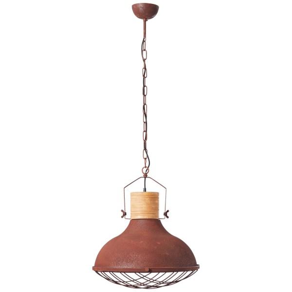 93406/55 Emma Pendelleuchte 47cm Metall/Holz rostfarbend