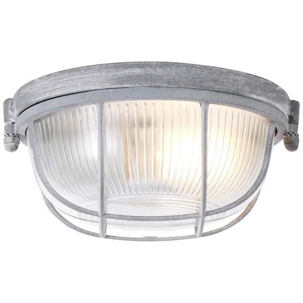 Brilliant 94480/70 Lauren Wand- und Deckenleuchte 19cm Metall/Glas grau Beton