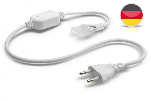 Netzkabel für einfarbige NeonFlex LED Streifen 230V mit Gleichrichter – 80cm