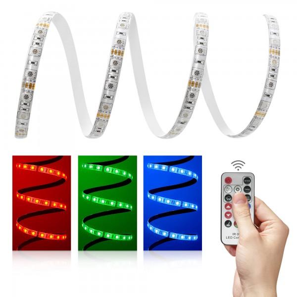 12V LED Streifen Set | RGB | Trafo und Fernbedienung | 1 bis 10m wählbar | IP65
