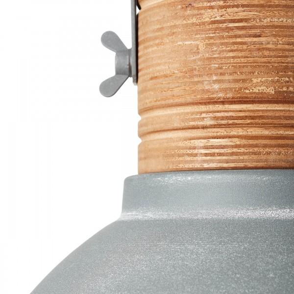 Brilliant 93630/70 Frida Pendelleuchte 39cm Metall/Holz beton/holz