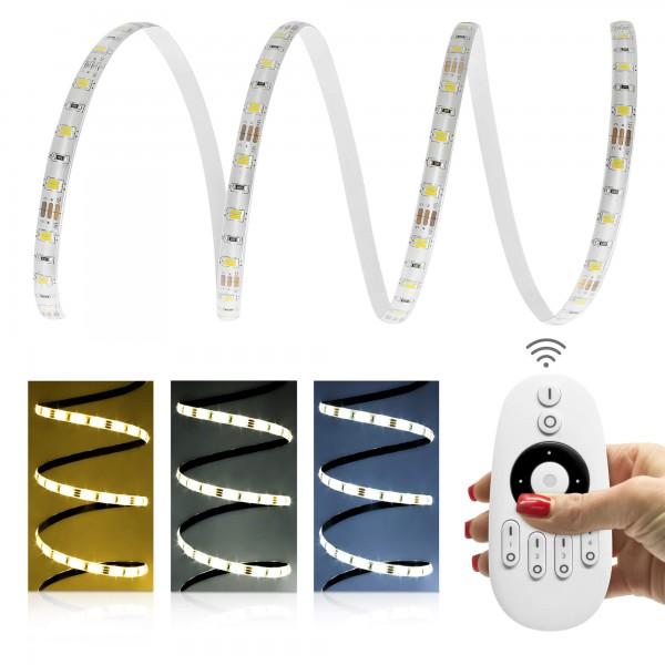 12V LED Streifen Set | CCT 2in1 | Trafo | Bedienung wählbar | 1 bis 12m wählbar | IP65