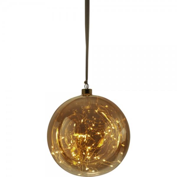 "Star Trading 457-85 ""Glow"" Glaskugel mit 80 warmwhite LED, ca. 20 cm Ø"
