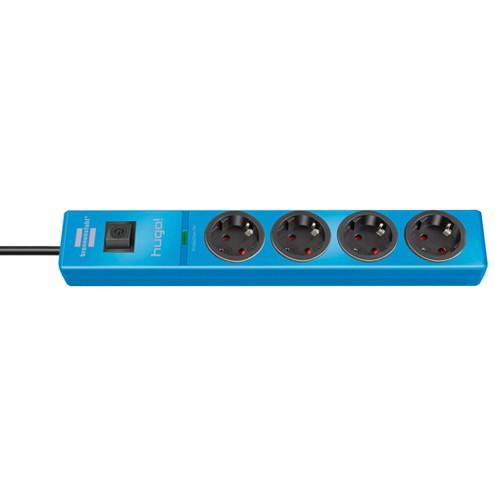 Brennenstuhl hugo! Steckdosenleiste 4-fach mit Überspannungsschutz (2m Kabel und Schalter, Gehäuse a