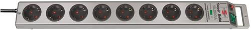 Brennenstuhl Super-Solid 8-fach Überspannungsschutz-Steckerleiste 13.500A 2,5m silbern