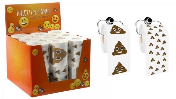 72122 Scherzartikel Toilettenpapier Kackhaufen Emoji 2 verschiedene Motive 20m 200 Blatt