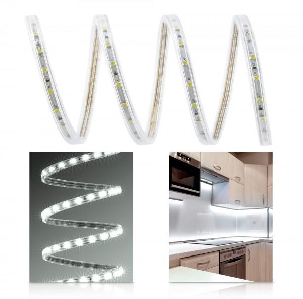230V LED Streifen Set | neutralweiß | Anschlusskabel | 1 bis 100m wählbar | IP68