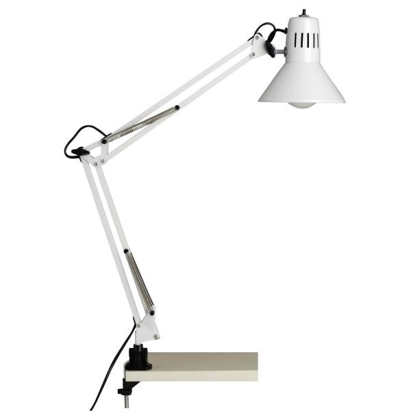 10802/05 Hobby Schreibtischklemmleuchte Metall weiß