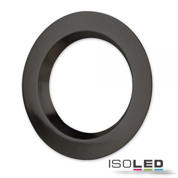 Cover Aluminium rund schwarz rückversetzt für Einbaustrahler Sys-90