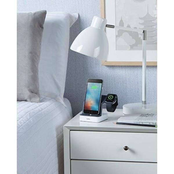 BELKIN PowerHouse Duo Ladestation für Apple Watch + iPhone mit 1,2 m Ladekabel, weiß