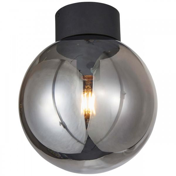 Brilliant 85290/93 Astro Deckenleuchte 25cm Glas/Metall schwarz/rauchglas