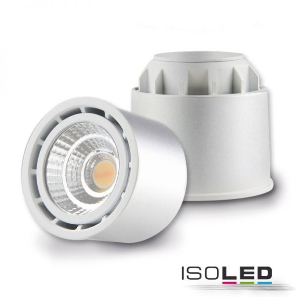 "ISOLED 112672 LED Spot SUNSET ""GU10"" 10W, silber, 45°, 2000-2800K, CRI99, externer Trafo, Dimm-to-wa"