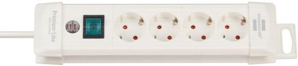 Brennenstuhl Premium-Line 4-fach Steckdosenleiste Schalter 1,8m Kabel weiß