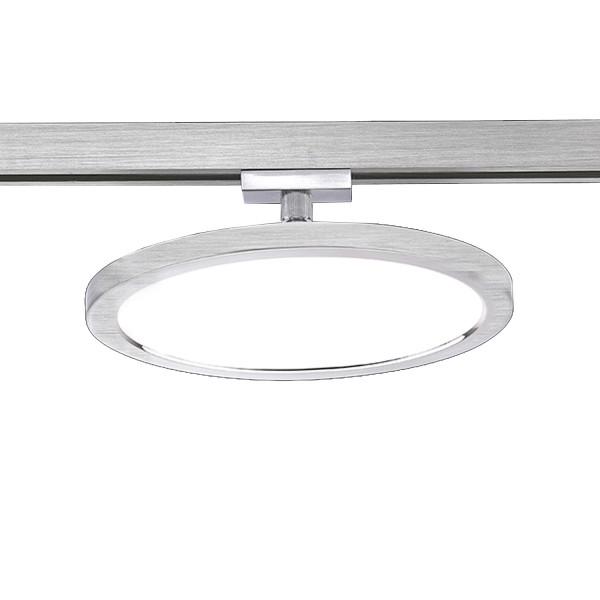 M6 Licht / HV-Track4 70018 Spotkopf 1-flg. HV-LED 10W 790lm nickel matt, ø20x H.7cm