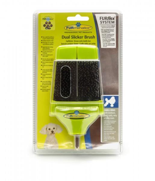 Ersatzbürste S Dual Slicker Brush | FURflex Furminator | Fellpflegebürste für kleine Hunde