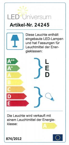 B-Ware LED Wegeleuchte mit 2 Steckdosen silber
