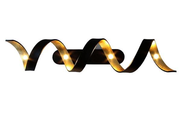 ECO-LIGHT LED-HELIX-PL4 NER Deckenleuchte Helix gold/schwarz