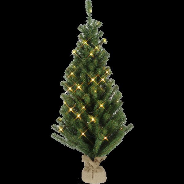 "600-41 LED-Tannenbaum ""Toppy"" im Jutesack, ca. 90x40 cm"