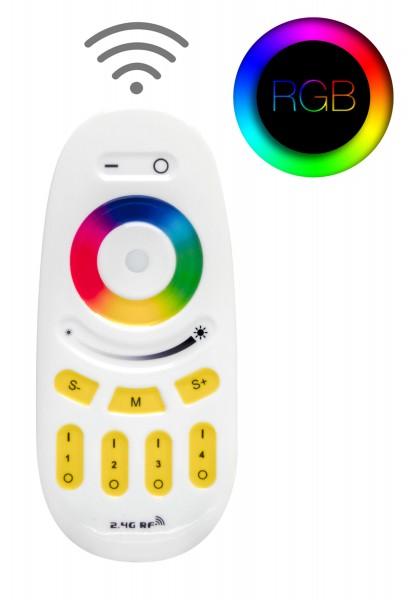 4 Zonen Funkfernbedienung für RGB RGBW CCT einfarbige LED Streifen