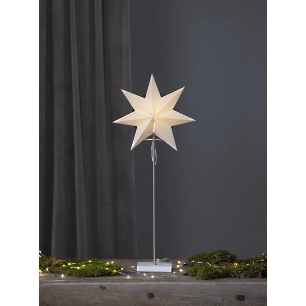 """Star Trading 233-20 Standstern """"Totto"""", weiß/weiß, E14 Fassung"""
