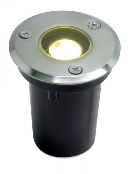 LED Bodeneinbaustrahler Sohra - Rund 1W für Aussen und innen IP65 in Edelstahl poliert - Warmweiß Ec