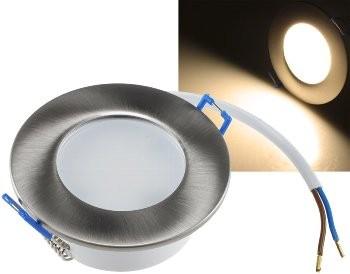 """LED-Einbauleuchte """"Flat-30 FR-R"""" 2900K 85x30mm, 5W, 460lm, IP44, rund, poliert"""
