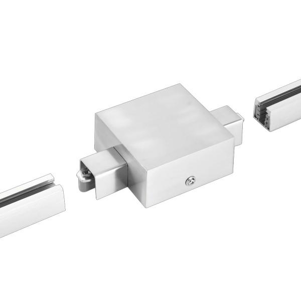 M6 Licht / HV-Track4 24570 Stromschienen - Einspeisung nickel matt