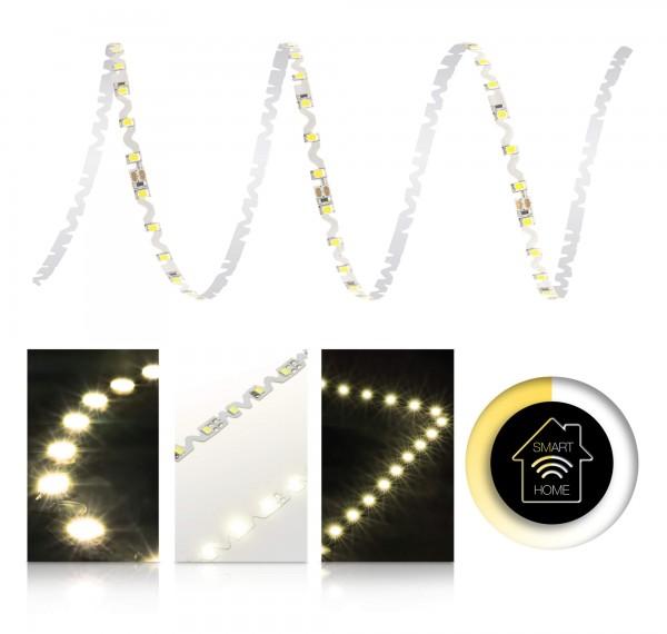 24V LED S-Shape Streifen Set | warmweiß | Smart Home | Bedienung wählbar | 1 bis 9m wählbar | IP20