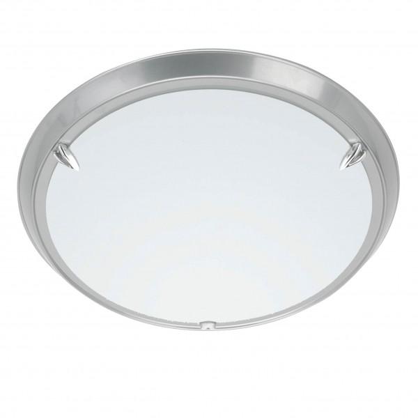 Brilliant 90288/11 Livorno Wand- und Deckenleuchte 30cm Metall/Glas titan/weiß