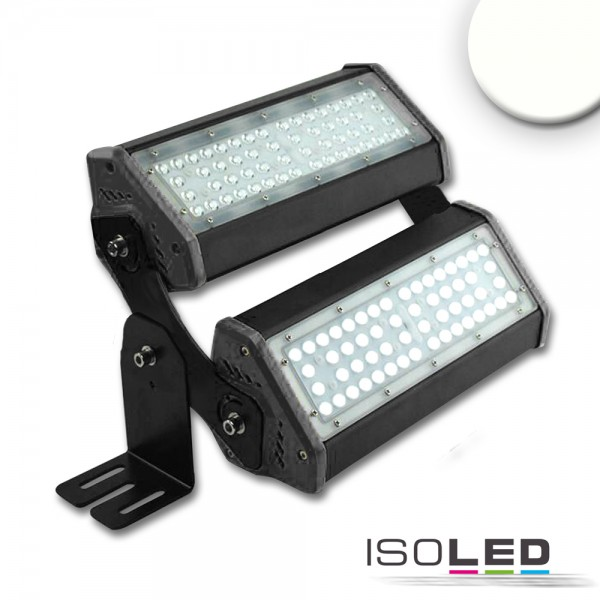 ISOLED 113747 LED Fluter/Hallenleuchte LN 2x 50W, IK10, 30°x70°, IP65, 1-10V dimmbar, neutralweiß
