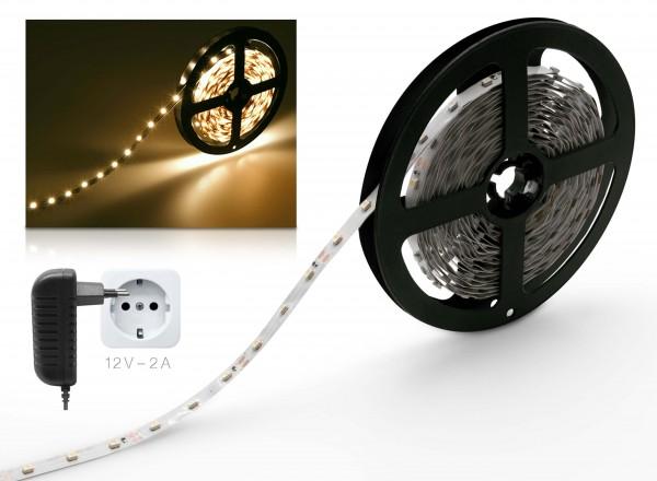 STARKlicht 12V LED Streifen 2m Set warmweiß 60 LED/m